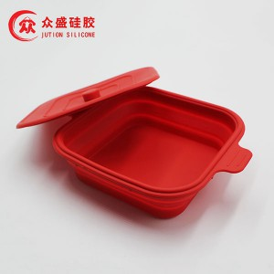 Silicone fjouwerkante collapsible Bowl